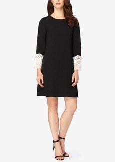 Tahari Asl Lace Bell-Sleeve Shift Dress