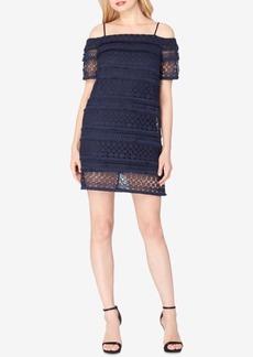 Tahari Asl Lace Cold-Shoulder Dress