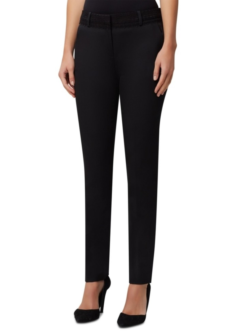 Tahari Asl Lace-Trim Slim-Leg Dress Pants