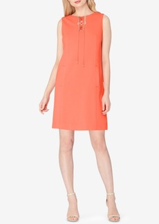 Tahari Asl Lace-Up Shift Dress