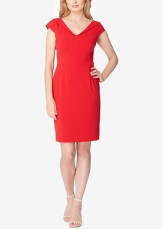 Tahari Asl Lapel-Collar Sheath Dress
