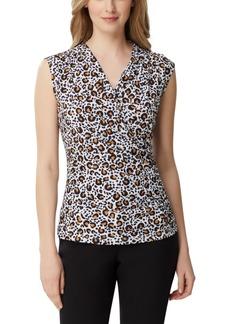 Tahari Asl Leopard-Print Wrap Top