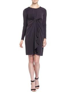 Elie Tahari Lilia Long-Sleeve Dress w/Center Knot