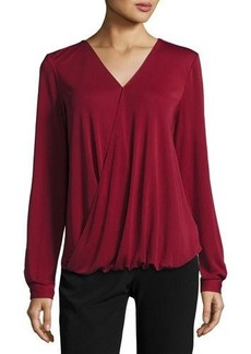 Tahari ASL Long-Sleeve Blouson Blouse