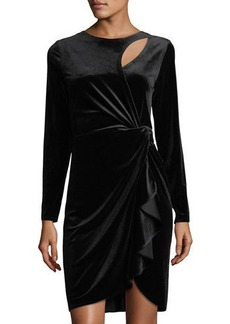 Tahari ASL Long-Sleeve Velvet Dress
