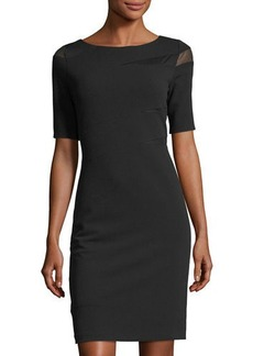 Tahari ASL Mesh-Inset Sheath Dress