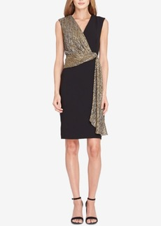 Tahari Asl Metallic-Contrast Sheath Dress
