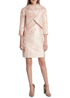 Tahari Asl Metallic-Floral Dress Suit