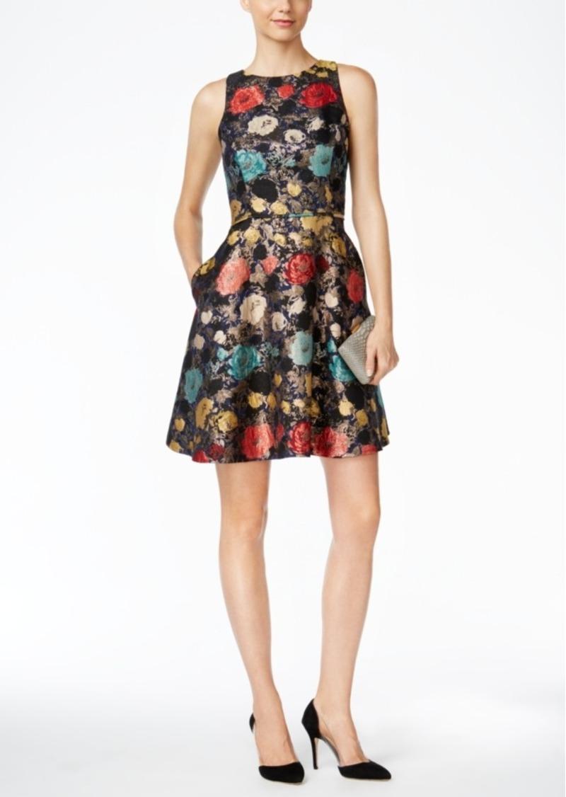 ddda1e8c1fb89 Tahari Tahari Asl Metallic Floral Jacquard Fit & Flare Dress | Dresses