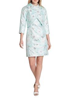 Tahari Asl Metallic Jacquard Dress Suit