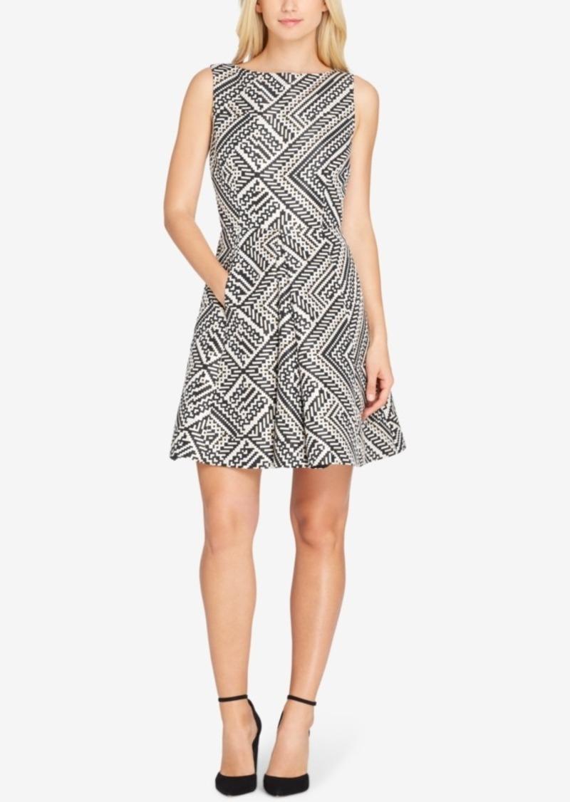 cbdef00273e1 Asl Metallic Jacquard Fit & Flare Dress, Regular & Petite Sizes. Tahari