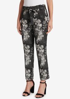 Tahari Asl Metallic Jacquard Pants