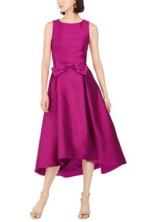 Tahari Asl Mikado Satin Bow Dress