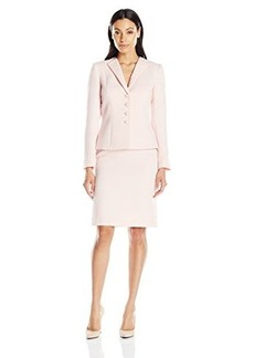 Tahari ASL Missy Faille Skirt Suit with Beading