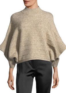 Tahari ASL Mock-Neck Batwing-Sleeve Sweater