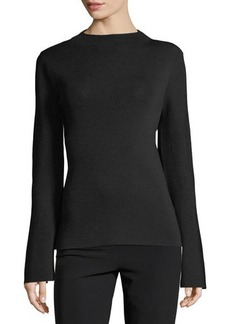 Tahari ASL Mock-Neck Bell-Sleeve Knit Top