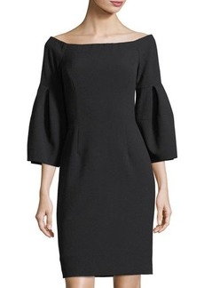 Tahari ASL Off-the-Shoulder Bell-Sleeve Dress
