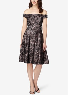 Tahari Asl Off-The-Shoulder Floral-Print Dress