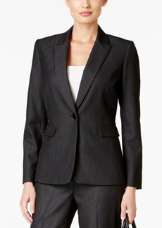 Tahari Asl Petite Cindy One-Button Blazer