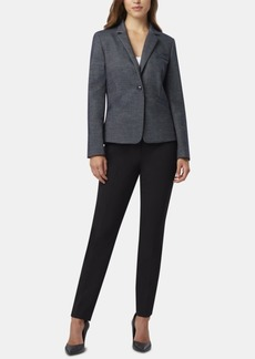 Tahari Asl One-Button Notch-Collar Blazer