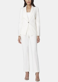 Tahari Asl Petite One-Button Pantsuit