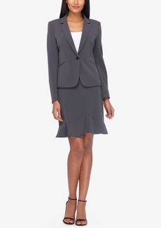 Tahari Asl One-Button Skirt Suit