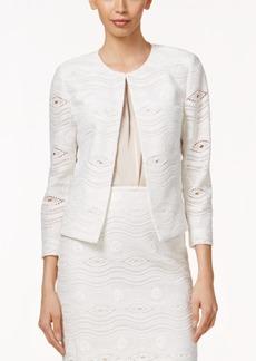Tahari Asl Open-Front Lace Blazer