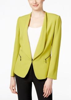 Tahari Asl Open-Front Zip-Pocket Blazer