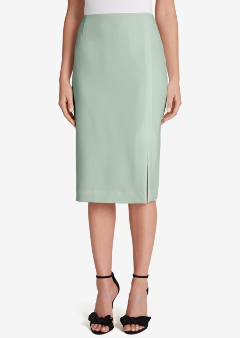 Tahari Asl Pebble Crepe Pencil Skirt
