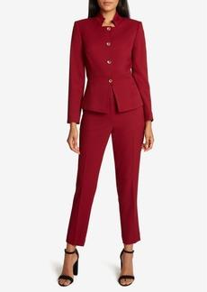 Tahari Asl Peplum-Hem Pants Suit
