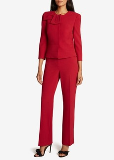 Tahari Asl Peplum Jacket Pants Suit