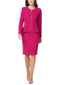 Tahari Asl Peplum-Jacket Skirt Suit