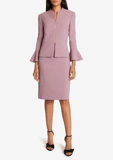 Tahari Asl Peplum Zip-Jacket Dress Suit