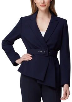Tahari Asl Petite Asymmetrical Belted Blazer