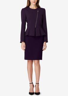 Tahari Asl Zippered Peplum Skirt Suit