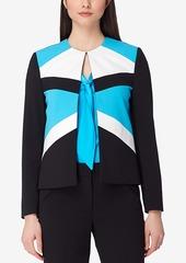 Tahari Asl Petite Colorblocked Flyaway Blazer