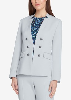 Tahari Asl Petite Faux-Double-Breasted Blazer