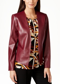 Tahari Asl Petite Faux-Leather Jacket