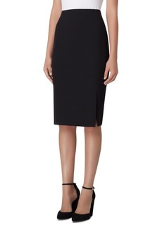 Tahari Asl Front-Slit Crepe Pencil Skirt