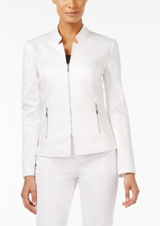 Tahari Asl Petite Inverted Notched Collar Blazer