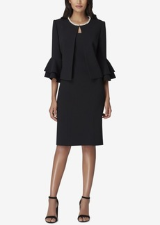Tahari Asl Imitation-Pearl-Trim Dress Suit