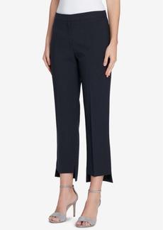 Tahari Asl Petite Pinstriped Step-Hem Pants