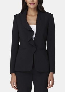 Tahari Asl Petite Ruffled-Front Jacket