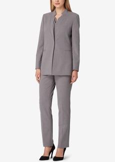 Tahari Asl Petite Stand-Collar Pant Suit