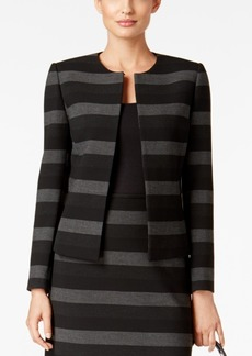 Tahari Asl Petite Striped Framed Jacket