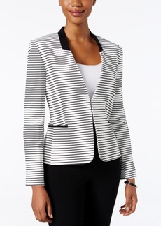 Tahari Asl Petite Striped-Knit Blazer