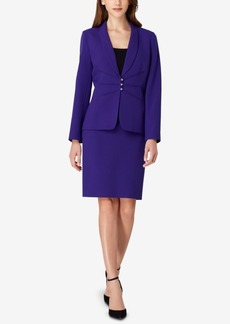 Tahari Asl Petite Three-Button Skirt Suit