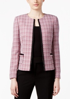 Tahari Asl Petite Tweed Soutache-Trim Jacket
