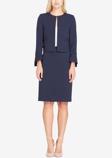Tahari Asl Pinstriped Flyaway Skirt Suit