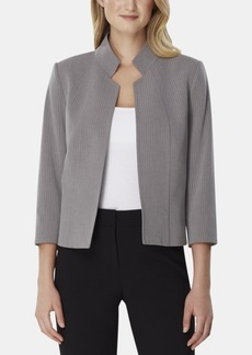 Tahari Asl Pinstriped Stand-Collar Blazer, Regular & Petite